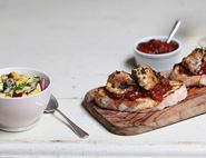 Open Chicken & Chilli Jam Sandwich