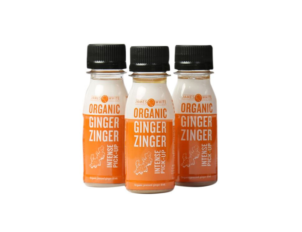 Ginger Zinger Shots, Organic, James White Drinks (3 x 7cl)