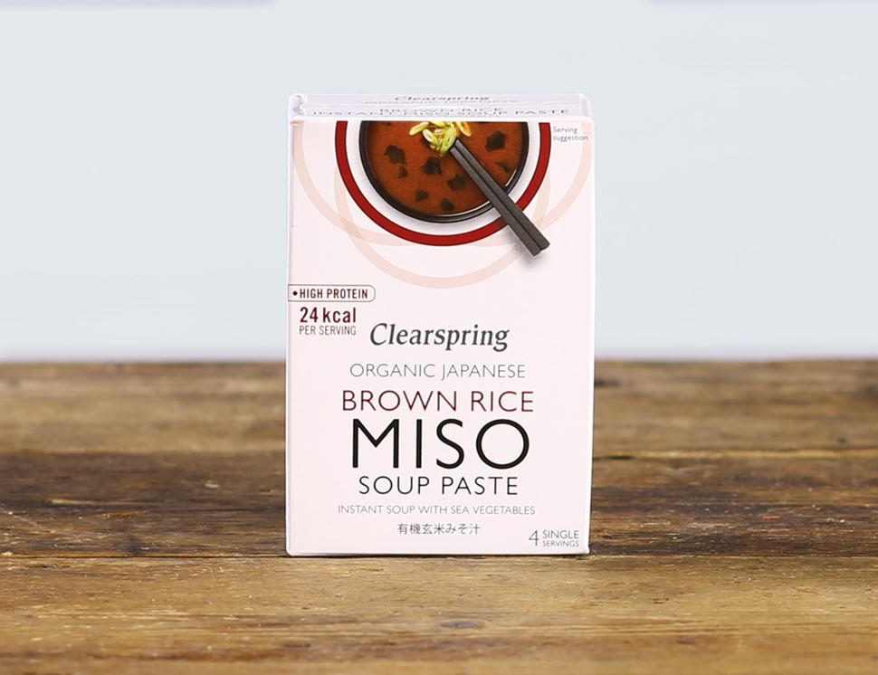 Instant Brown Rice Miso Soup Paste With Sea Vegetables, Organic, Clearspring (60g)