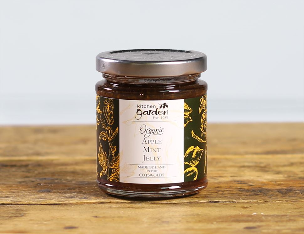 Apple & Mint Jelly, Organic, Kitchen Garden (220g)