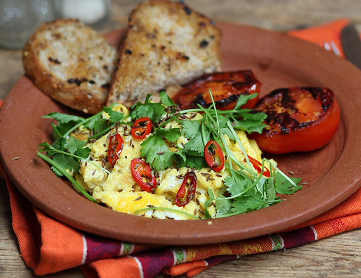 Spiced-up Scramble & Toms