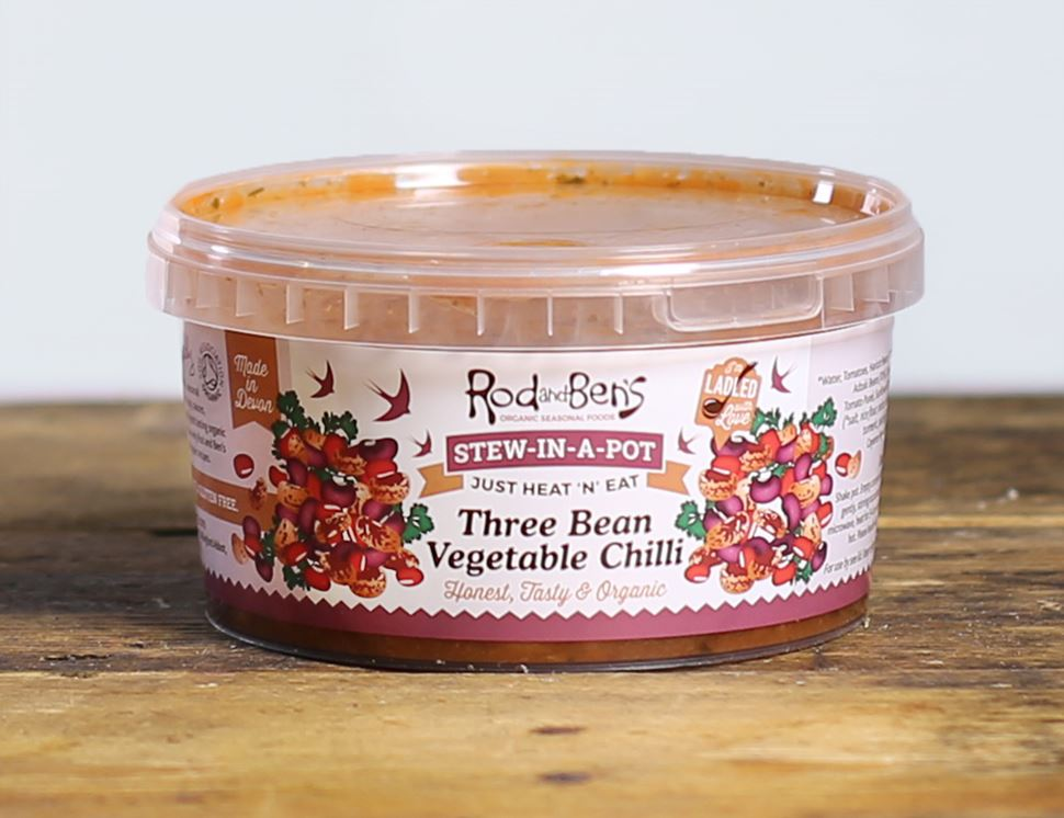 Three Bean Chilli Stew, Organic, Rod & Ben's (450g)