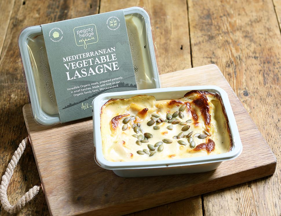 Vegetable Lasagne, Organic, Pegoty Hedge (400g)