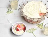 Strawberry, Lemon & Elderflower Trifle