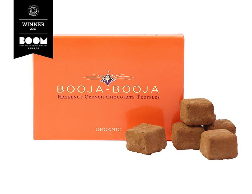 Hazelnut Crunch Chocolate Truffles Organic Booja Booja 69g