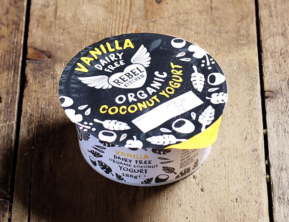 Vanilla, Dairy Free, Organic Coconut Yogurt, Rebel Kitchen (125g)