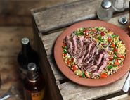 Rib Eye Steak & Lentil Salad