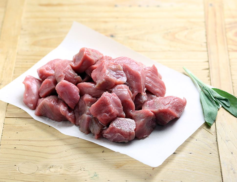 Diced Pork, Organic, Abel & Cole (300g)