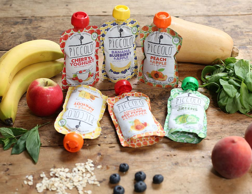 Apple, Banana & Blueberry with hint of Vanilla, Stage 1, Organic, Piccolo Food (100g)