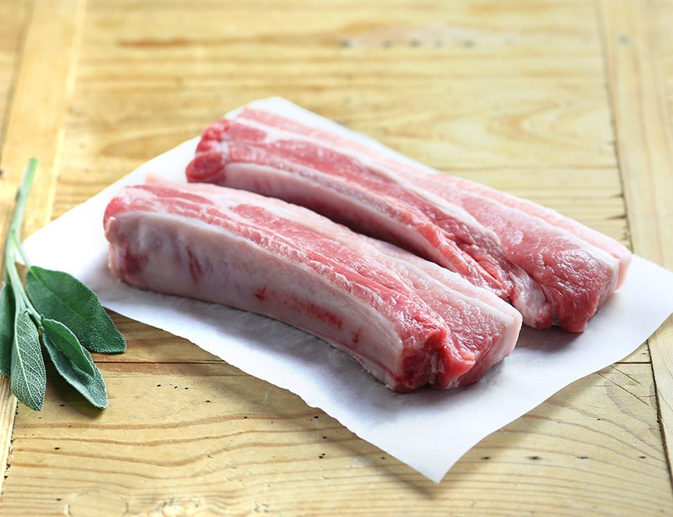 Pork Belly Chops, Organic, Abel & Cole (500g)