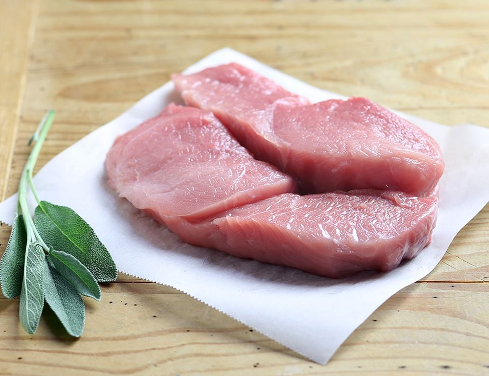 Pork Leg Steaks, Organic, Abel & Cole (350g)
