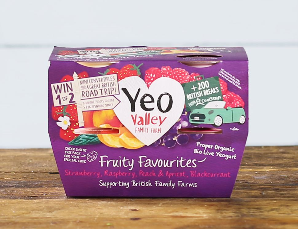 Fruity Favourites, Organic, Yeo Valley (4 x 120g)