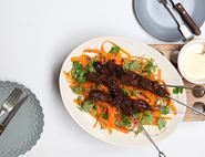 Tandoori Pigeon with Carrot Coriander Salad