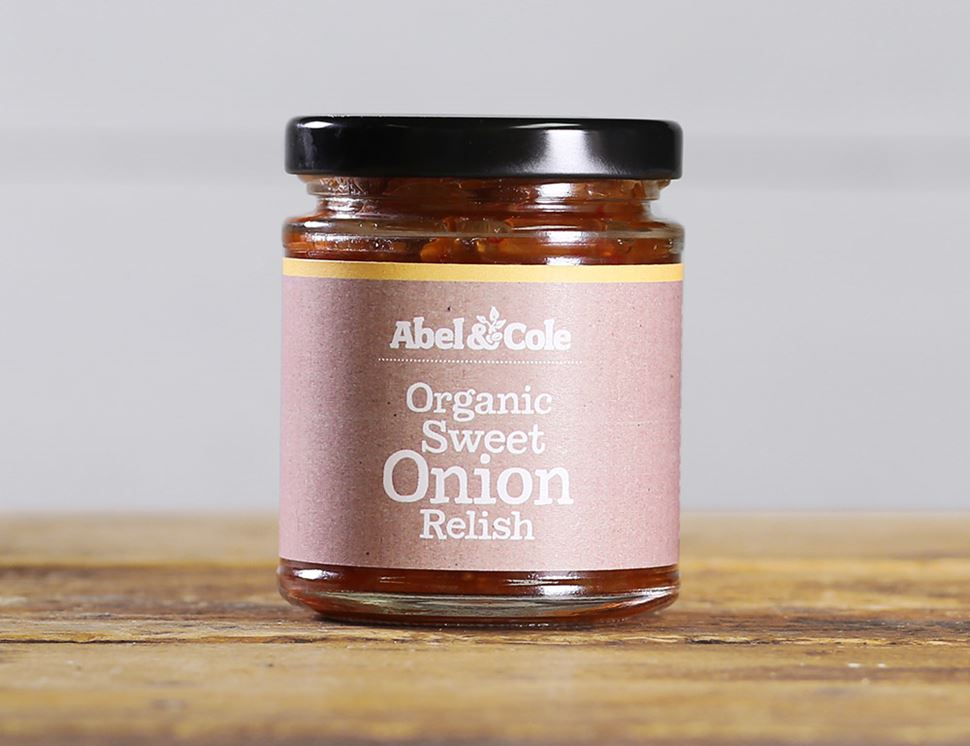 Sweet Onion Relish, Organic, Abel and Cole (200g)