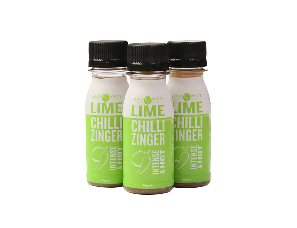 Lime Chilli Zinger Shots, Organic, James White Drinks (3 x 7cl)