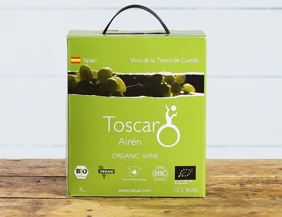 Toscar Airen, Bag in a Box, Organic (3 litres)
