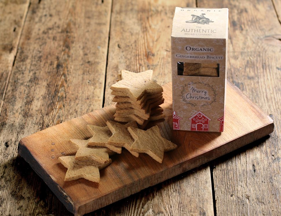 Gingerbread Star Biscuits, Organic, Authentic Bread Co. (150g)