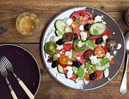 Greek Salad with Melon & Mint