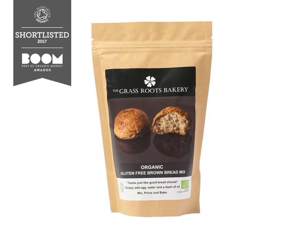 Brown Bread Mix, Gluten Free, Organic, The Grass Roots Bakery (280g)