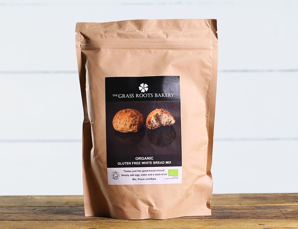 White Bread Mix, Gluten Free, Organic, The Grass Roots Bakery (560g)