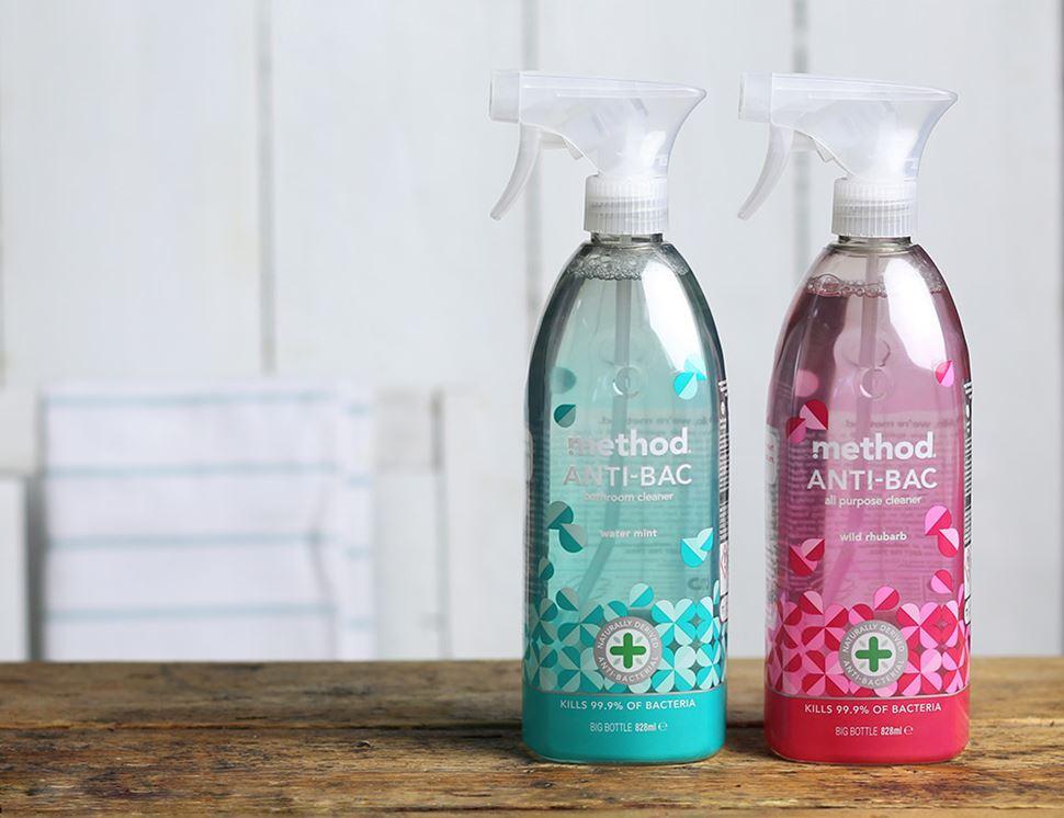 Anti bac bathroom cleaner method 828ml abel cole for Method bathroom cleaner ingredients