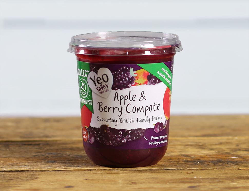 Apple & Berry Compote, Organic, Yeo Valley (450g)