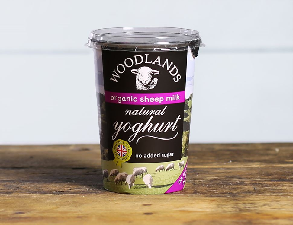 Sheep's Milk Natural Yogurt, Organic, Woodlands Dairy (450g)