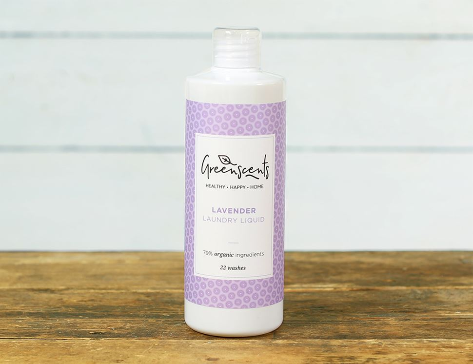 Lavender Laundry Liquid, Organic, Greenscents (500ml, 22 washes)