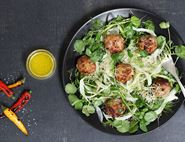 Sweet Chilli Pork Meatballs with Asian Salad