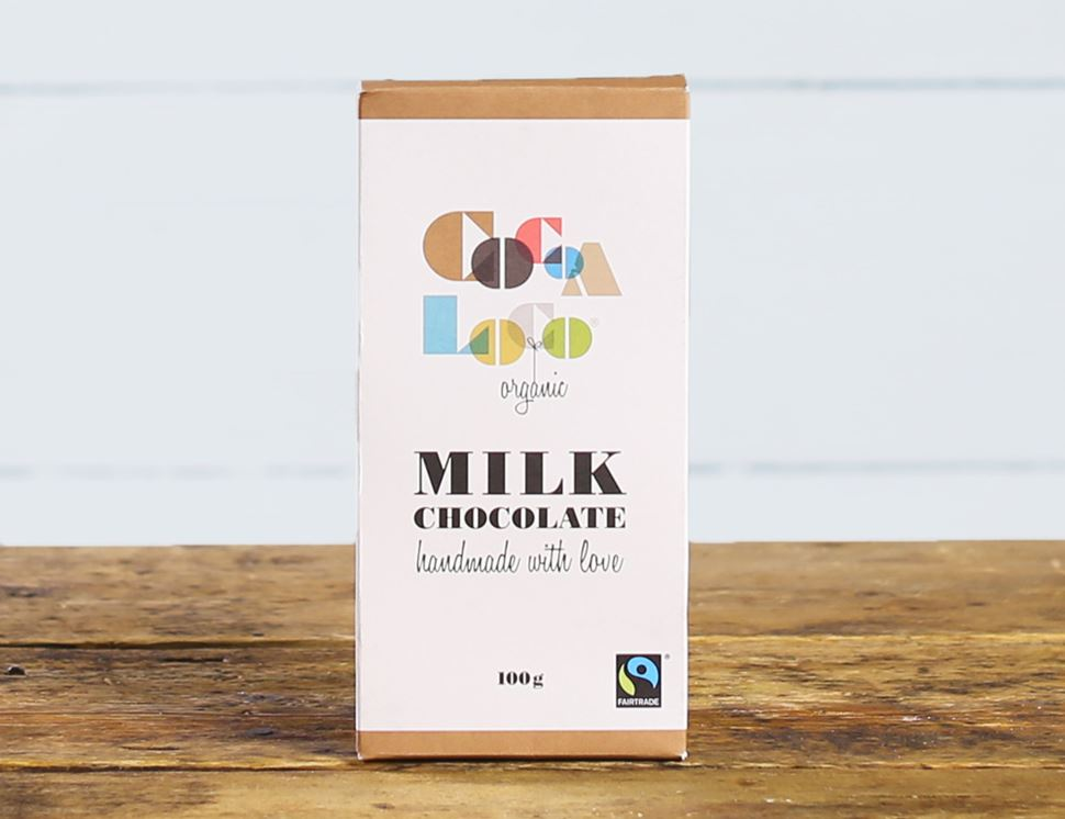 Milk Chocolate Bar, Organic, Cocoa Loco (100g)