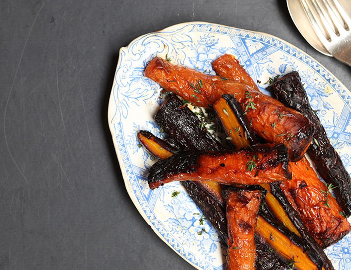 Smoked Carrots with Thyme & Paprika