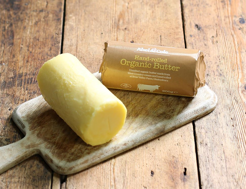 Hand-rolled Butter, Unsalted, Organic, Abel & Cole (200g)