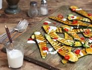 Griddled Courgettes with Turmeric & Pickled Chilli