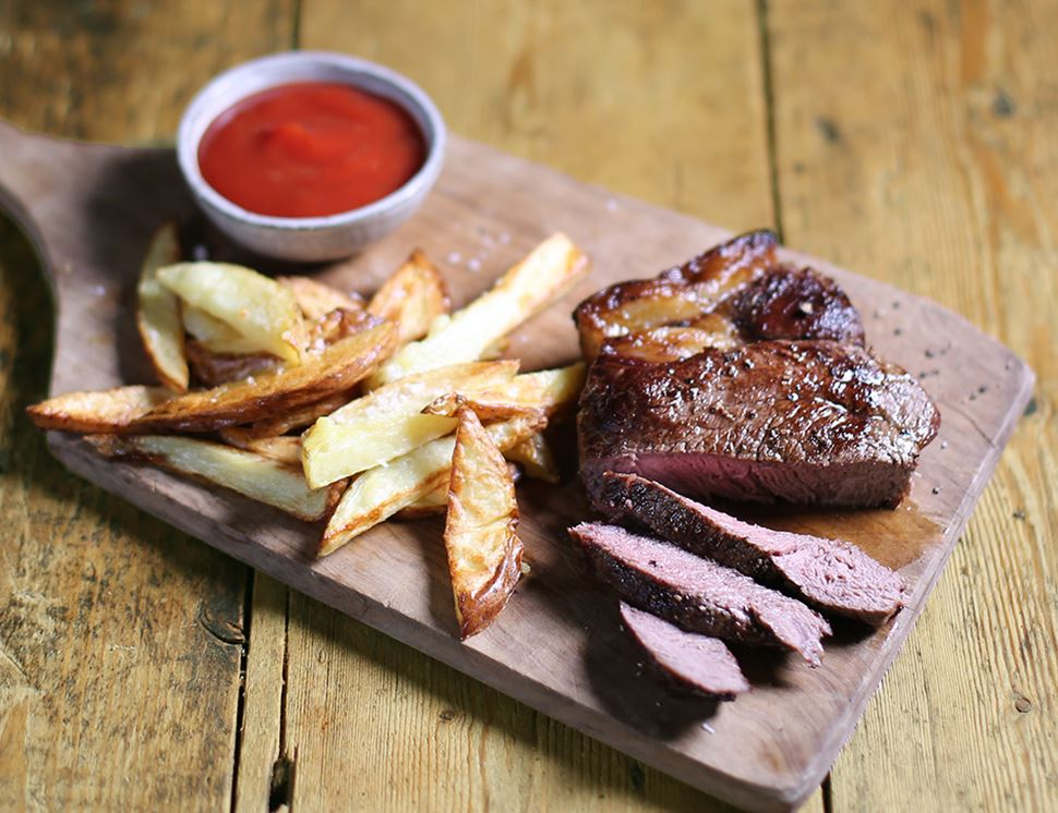 28 Day Aged Rump Steak, Organic, Eversfield Organic (440g)