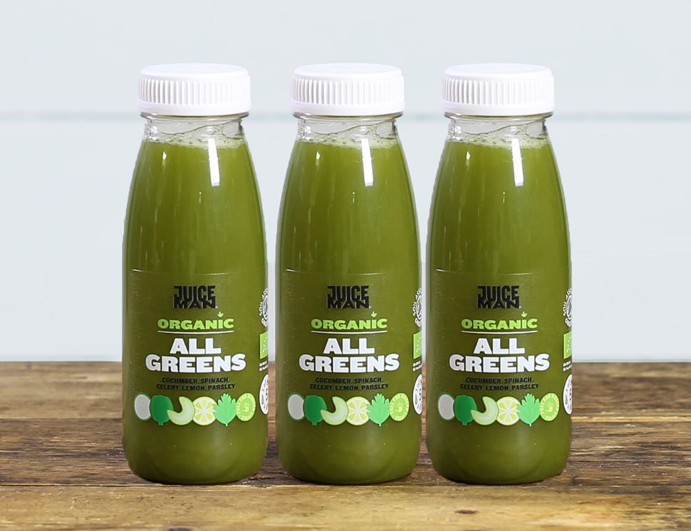 All Greens, Organic, Juiceman (3 x 250ml)