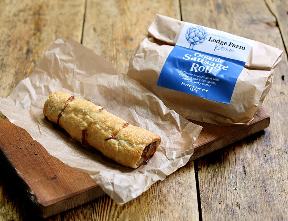 Sausage Roll, Organic, Lodge Farm Kitchen (130g)