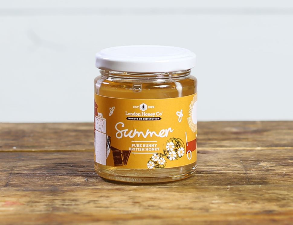 British Summer Runny Honey, The London Honey Company (227g)