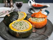 Roast Stuffed Squashes with Christmas Spices