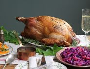 Butter Roast Turkey with Cider Gravy