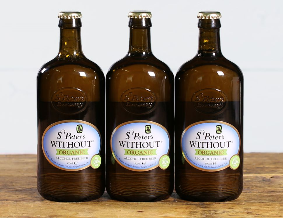 Without Alcohol-Free Beer, Organic, St Peter's (3 x 500ml)