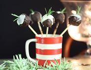 Christmas Pudding Pops