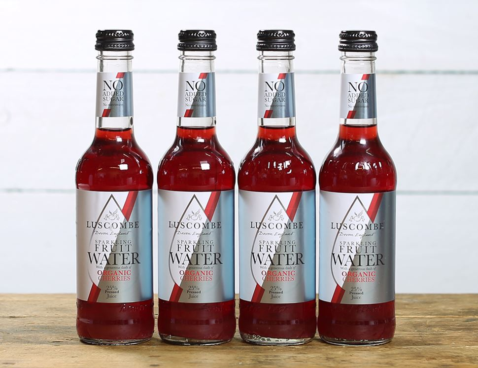 Sparkling Sour Cherry Water, Organic, Luscombe (4 x 270ml)