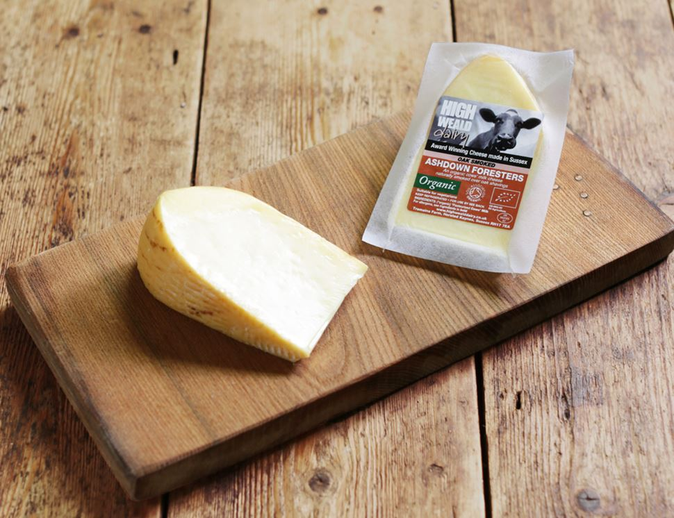 Smoked Ashdown Forester Cheese, Organic, High Weald Dairy (150g)