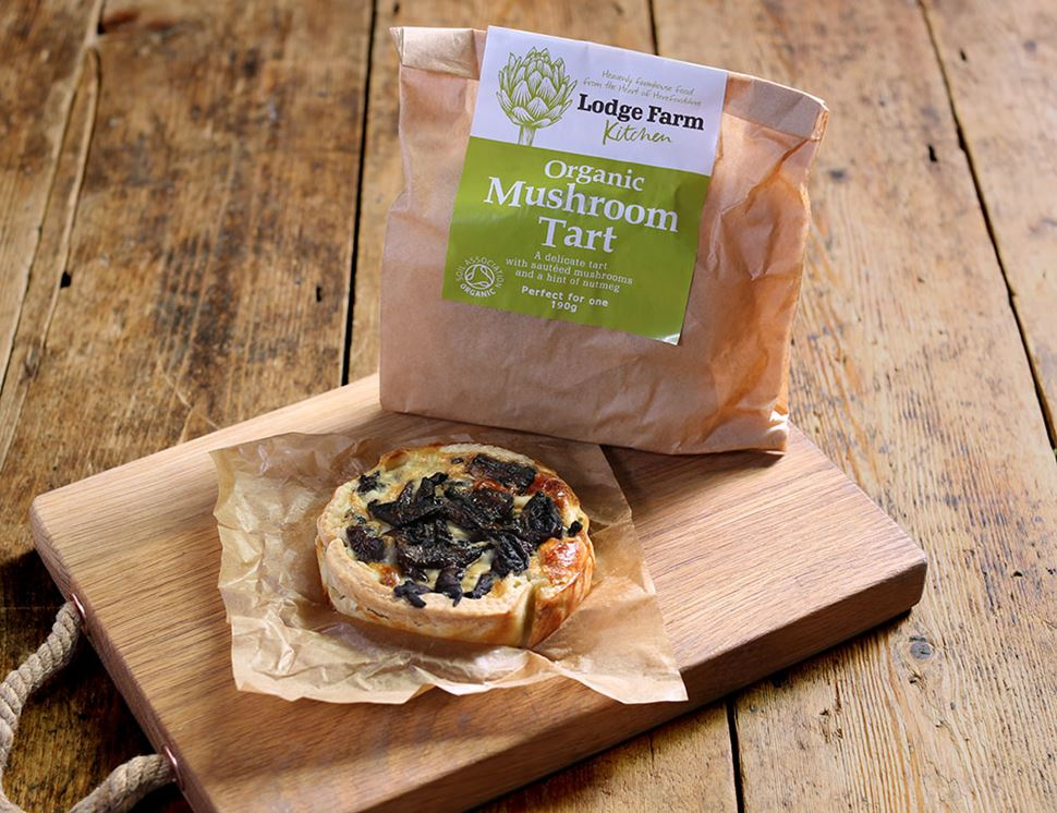 Mushroom Tart, Organic, Lodge Farm Kitchen (160g)