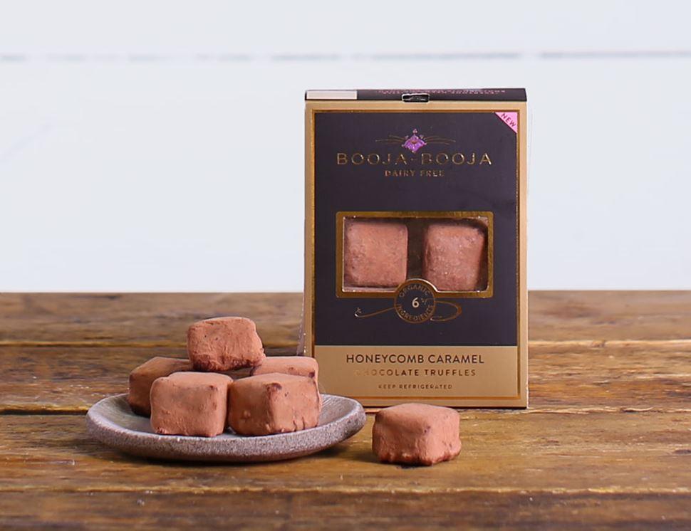 Honeycomb Caramel Truffles Organic Booja Booja 69g