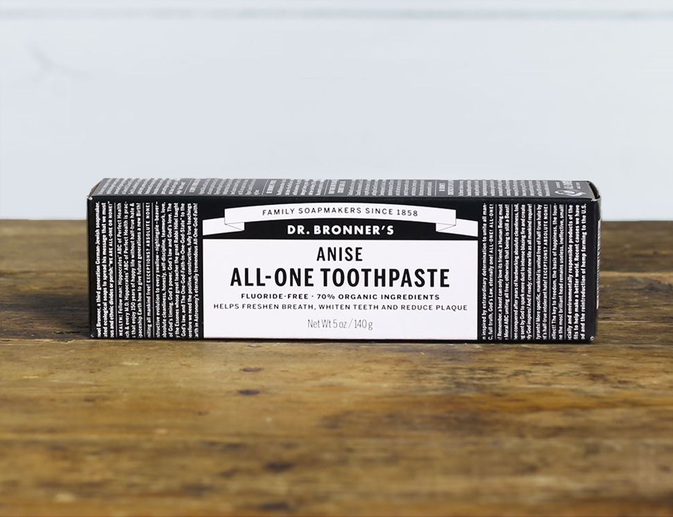 Anise Toothpaste, Organic,  Dr Bronner's (140g)