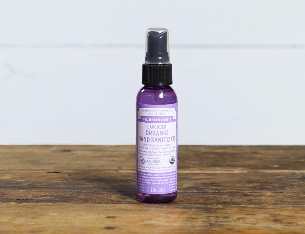 Lavender Hand Sanitiser Organic Dr Bronner S 59ml