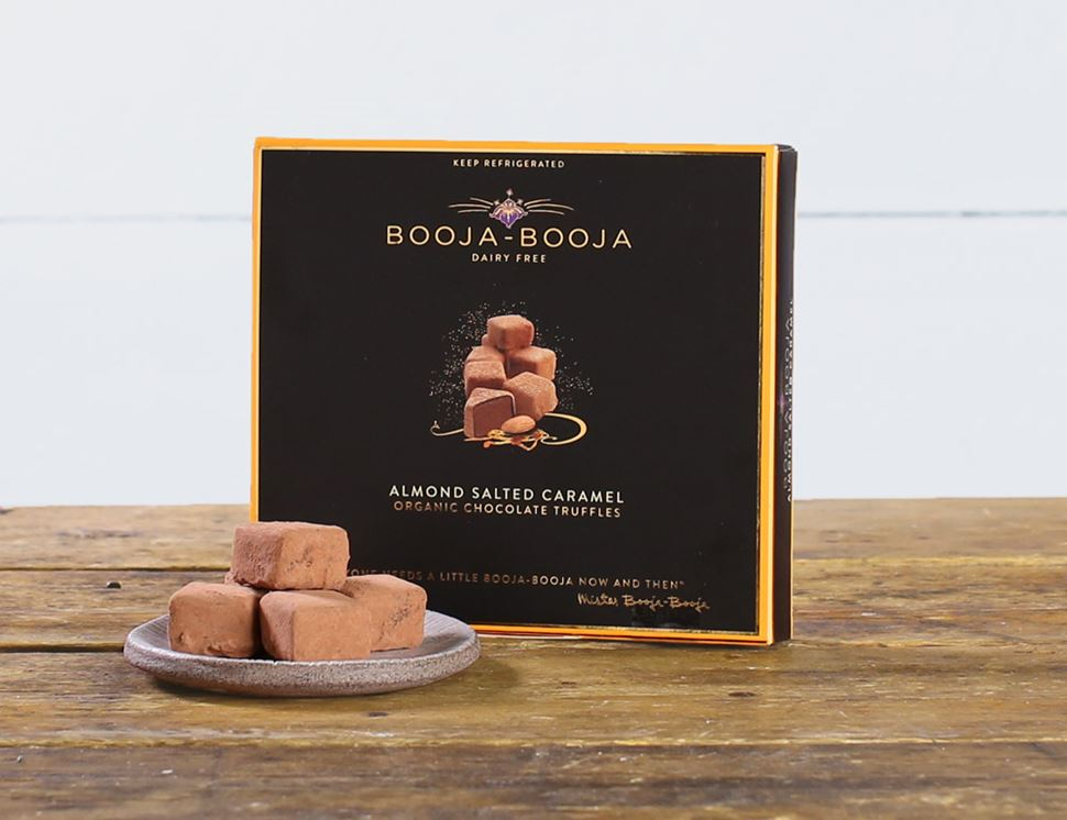 The 12 Truffle Box Almond Salted Caramel, Organic, Booja Booja (138g)