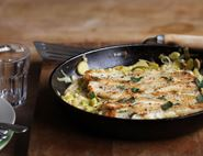 Dreamy Creamy Leeks with White Fish