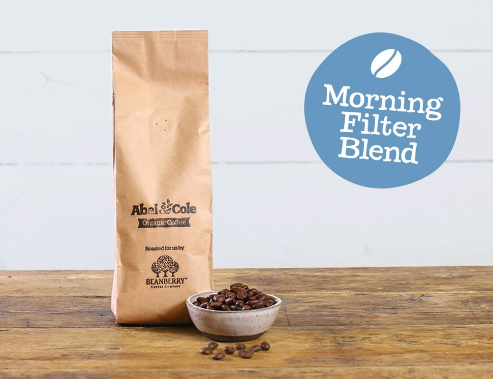 Morning Filter Blend Coffee Beans, Organic, Abel & Cole, (250g)